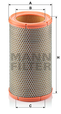Ilustracja C 1380 MANN-FILTER filtr powietrza