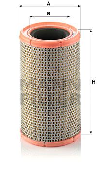 Ilustracja C 1380/3 MANN-FILTER filtr powietrza