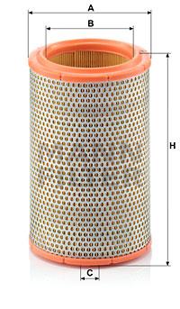 Ilustracja C 1387 MANN-FILTER filtr powietrza