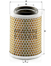 Ilustracja C 1392 MANN-FILTER filtr powietrza