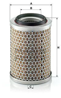 Ilustracja C 1396 MANN-FILTER filtr powietrza