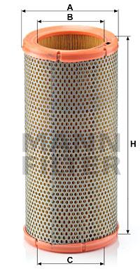 Ilustracja C 1399/2 MANN-FILTER filtr powietrza