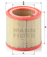Ilustracja C 1449 MANN-FILTER filtr powietrza