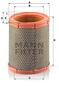 Ilustracja C 1460 MANN-FILTER filtr powietrza