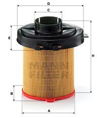Ilustracja C 1468/2 MANN-FILTER filtr powietrza