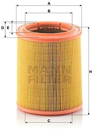 Ilustracja C 1472 MANN-FILTER filtr powietrza