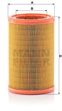 Ilustracja C 1480 MANN-FILTER filtr powietrza