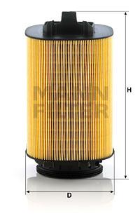 Ilustracja C 14 006 MANN-FILTER filtr powietrza