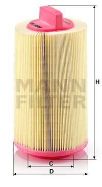 Ilustracja C 14 114 MANN-FILTER filtr powietrza