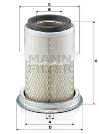 Ilustracja C 14 123 MANN-FILTER filtr powietrza