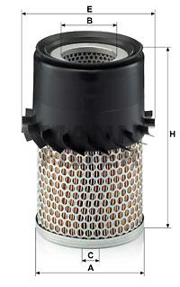 Ilustracja C 14 138/1 MANN-FILTER filtr powietrza