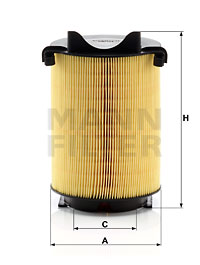 Ilustracja C 14 130 MANN-FILTER filtr powietrza