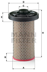 Ilustracja C 14 150 MANN-FILTER filtr powietrza