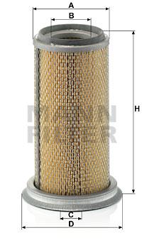 Ilustracja C 14 168 MANN-FILTER filtr powietrza