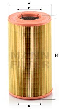 Ilustracja C 14 176 MANN-FILTER filtr powietrza