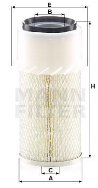 Ilustracja C 14 179 x MANN-FILTER filtr powietrza