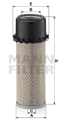 Ilustracja C 14 190 MANN-FILTER filtr powietrza
