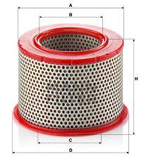 Ilustracja C 1555/1 MANN-FILTER filtr powietrza