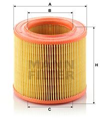 Ilustracja C 1567/1 MANN-FILTER filtr powietrza