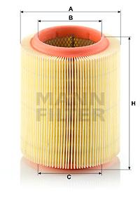 Ilustracja C 1571 MANN-FILTER filtr powietrza