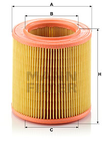 Ilustracja C 1577 MANN-FILTER filtr powietrza
