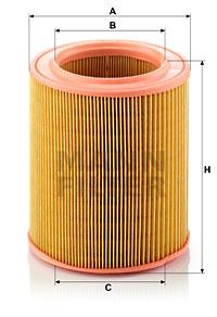 Ilustracja C 1577/1 MANN-FILTER filtr powietrza