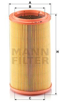 Ilustracja C 1586 MANN-FILTER filtr powietrza
