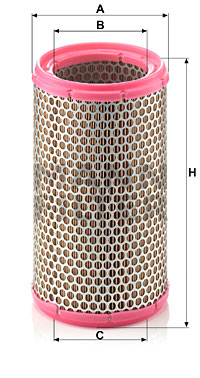 Ilustracja C 1589/3 MANN-FILTER filtr powietrza