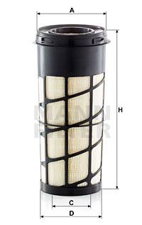Ilustracja C 15 011 MANN-FILTER filtr powietrza