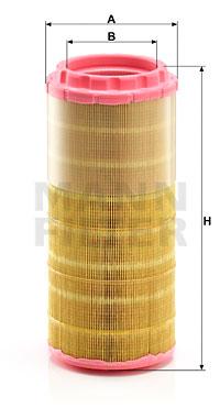 Ilustracja C 15 020 MANN-FILTER filtr powietrza