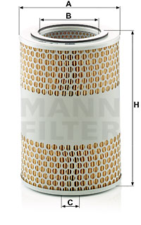Ilustracja C 15 124/4 MANN-FILTER filtr powietrza