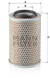 Ilustracja C 15 127 MANN-FILTER filtr powietrza