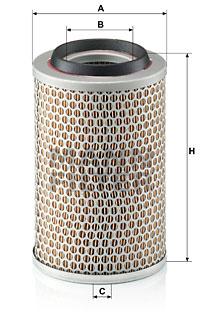 Ilustracja C 15 127/1 MANN-FILTER filtr powietrza