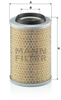 Ilustracja C 15 127/2 MANN-FILTER filtr powietrza