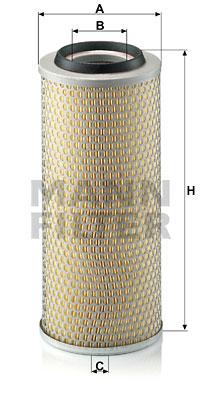 Ilustracja C 15 165/4 MANN-FILTER filtr powietrza