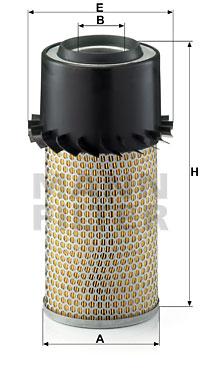 Ilustracja C 15 165/6 MANN-FILTER filtr powietrza