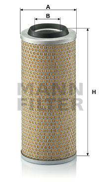Ilustracja C 15 165/7 MANN-FILTER filtr powietrza