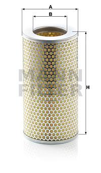 Ilustracja C 15 163/1 MANN-FILTER filtr powietrza