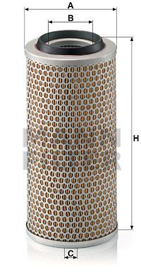 Ilustracja C 15 248 MANN-FILTER filtr powietrza