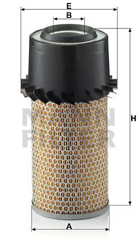 Ilustracja C 15 250 MANN-FILTER filtr powietrza