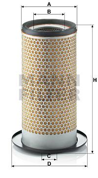 Ilustracja C 15 267 MANN-FILTER filtr powietrza