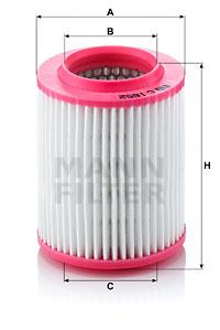 Ilustracja C 1652 MANN-FILTER filtr powietrza