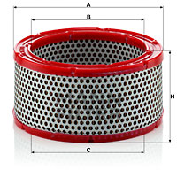 Ilustracja C 1633/1 MANN-FILTER filtr powietrza