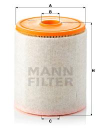 Ilustracja C 16 005 MANN-FILTER filtr powietrza