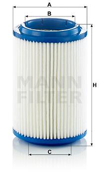 Ilustracja C 16 006 MANN-FILTER filtr powietrza