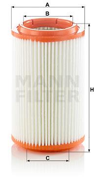 Ilustracja C 16 007 MANN-FILTER filtr powietrza