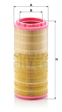 Ilustracja C 16 100 MANN-FILTER filtr powietrza