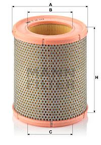 Ilustracja C 16 113 MANN-FILTER filtr powietrza