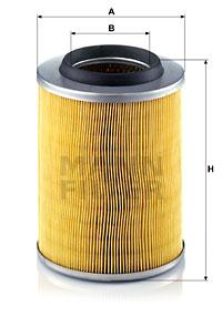 Ilustracja C 16 127 MANN-FILTER filtr powietrza