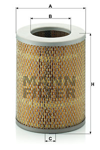 Ilustracja C 16 136 MANN-FILTER filtr powietrza